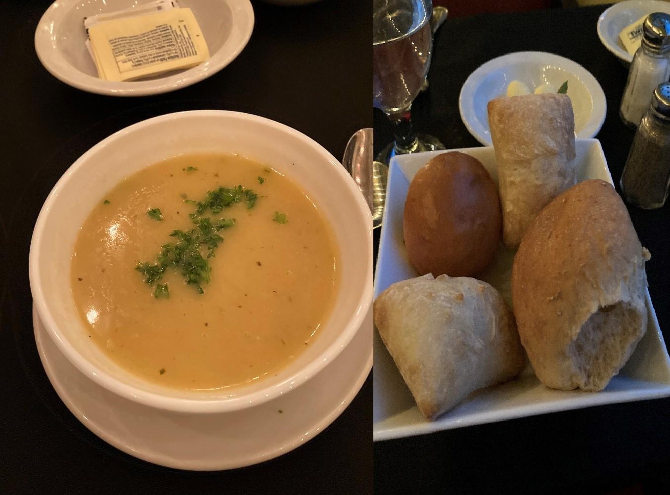 butternut_squash_soup+dinner_rolls